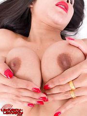 Pretti Enjoys Stroking Her Cock!