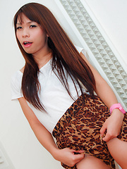 Ladyboy ass takes on huge western cock