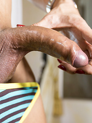 Handjob and Slutwear Creampie